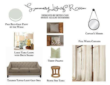 Summery Living Room Moodboard Sweet August Interiors Boone North Carolina Moodboards Wix Com Interior Interior Design Design