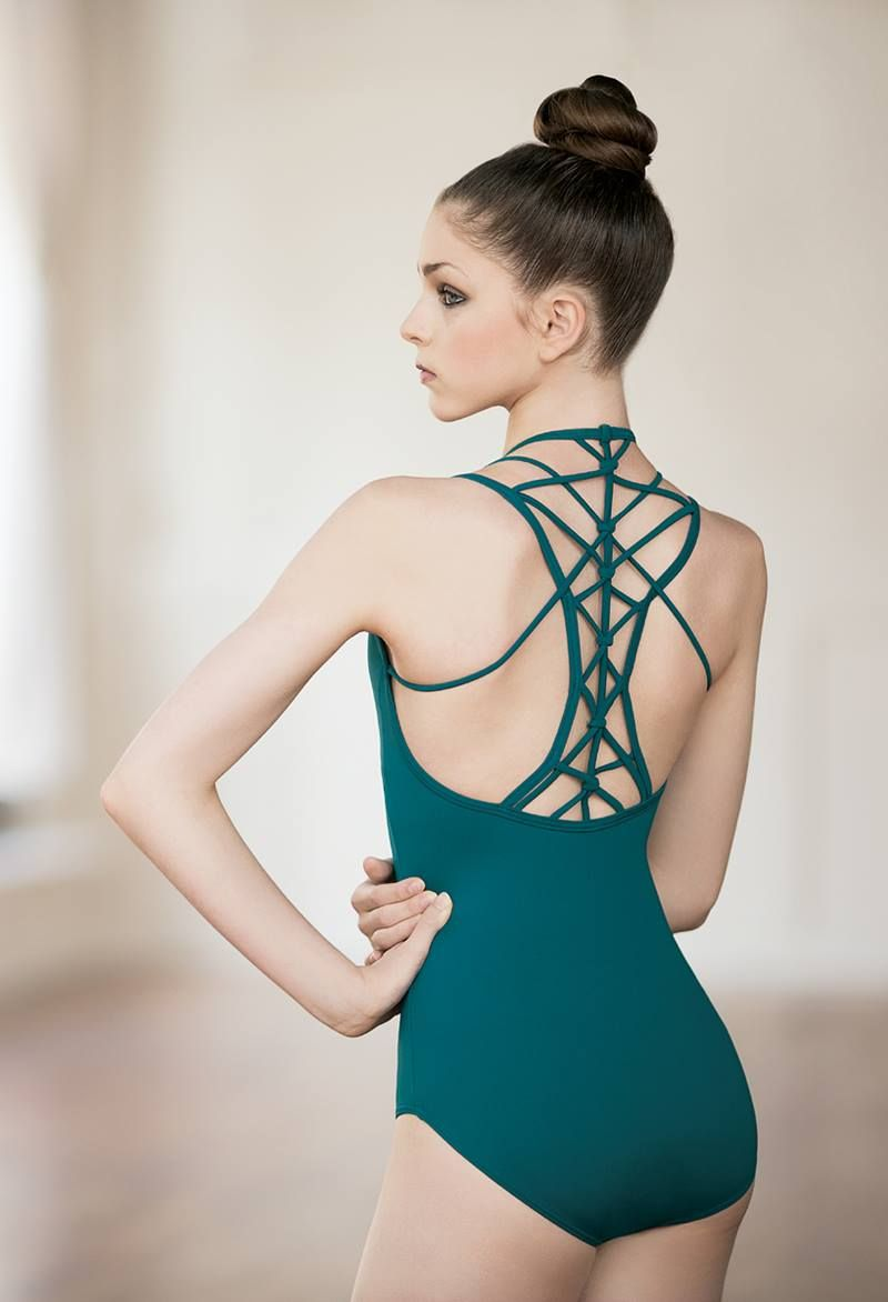 Macrame Strappy Back Pinch-Front Leotard  5a5079a76