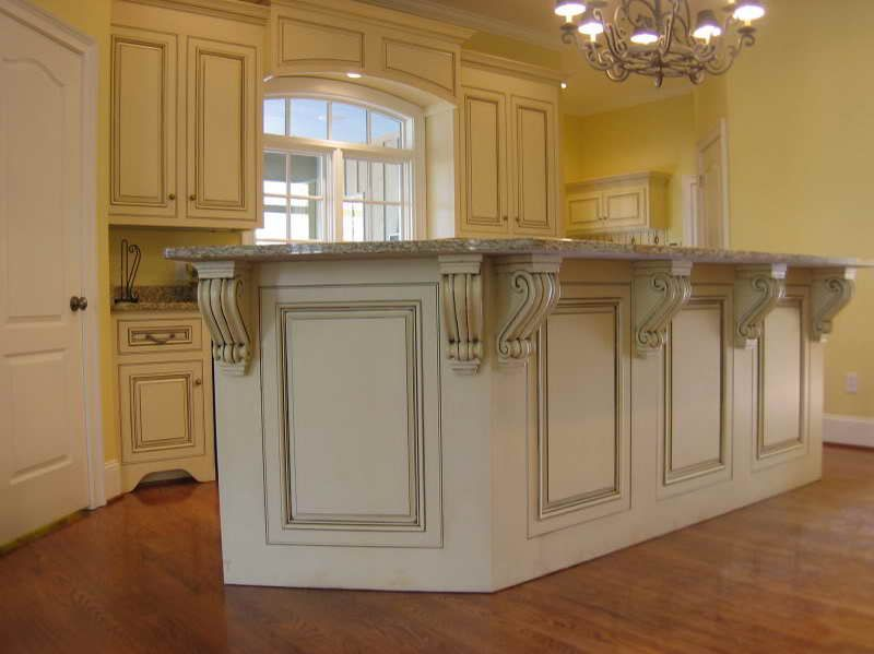 How to make Glazed White Kitchen Cabinets with royal design ...