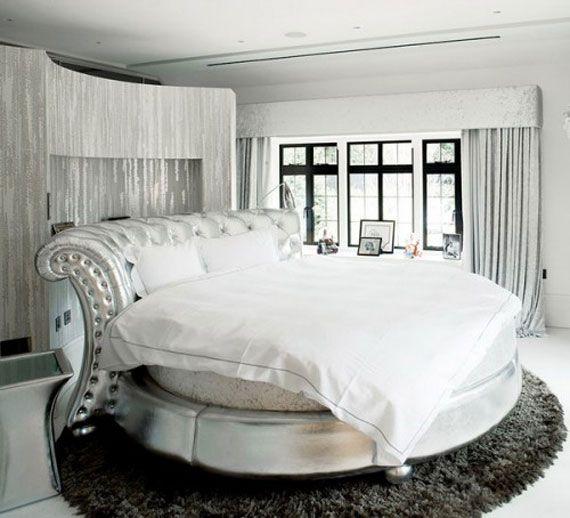 Unique Beds White Circle British Bed Design Unique Feature In