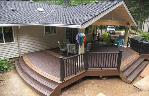 Covered Deck Repinned By Normoe The Backyard Guy 1 Backyardguy On Earth Follow Us On Http Twitter Com Backyardgu Mobile Home Porch Patio Porch Design