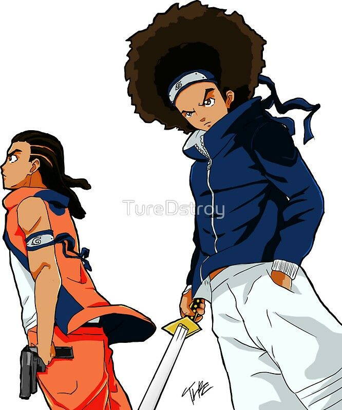 Boondocks X Naruto Anime And Other Geeky Things I Love Black