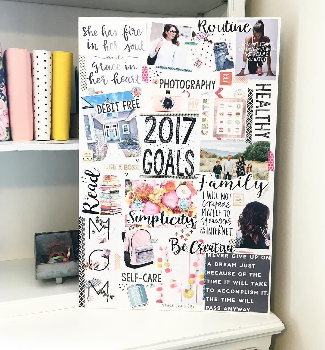 You want to know how to create a vision board that helps you