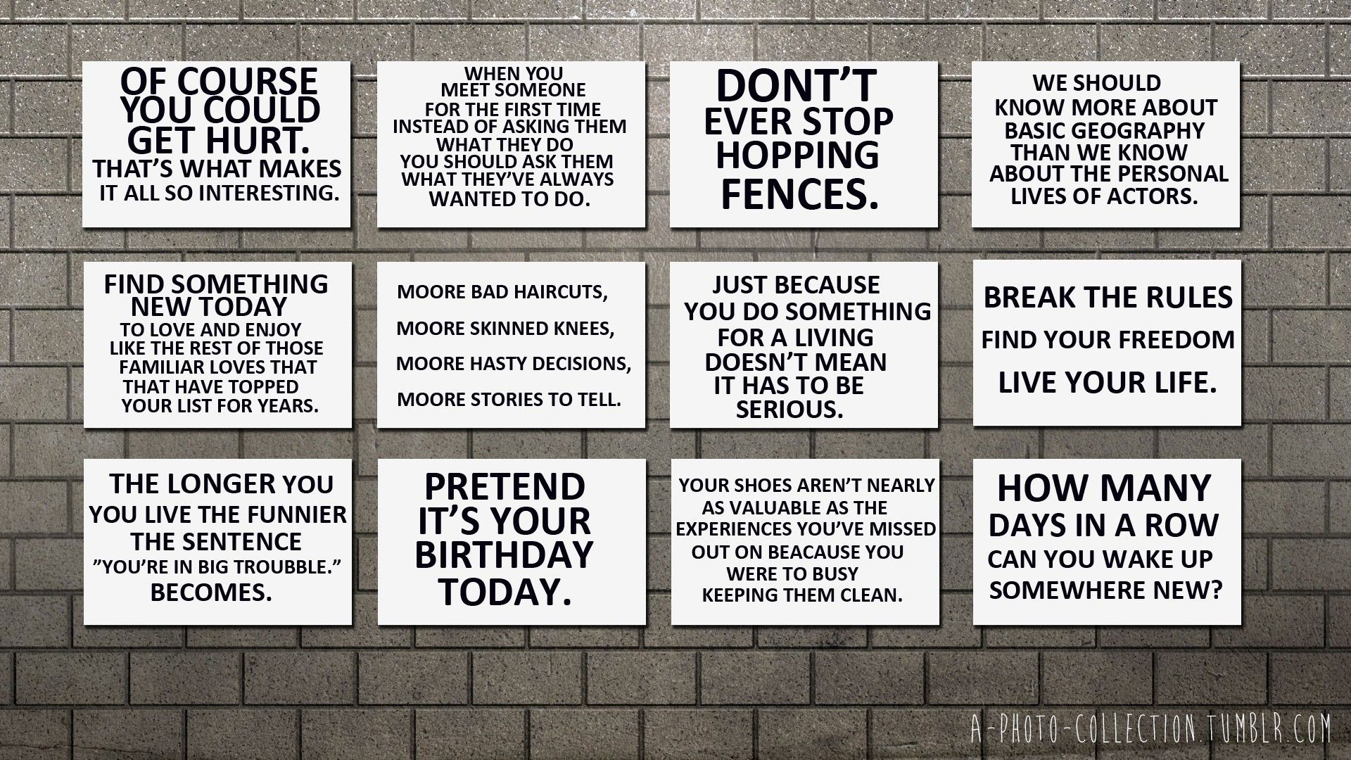 black and white wall quotes skateboarding brick wall