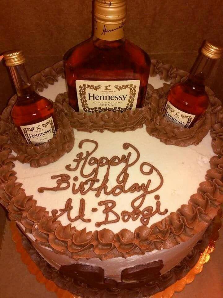 Hennessy Cake Dads Birthday Cake Pinterest Hennessy Cake