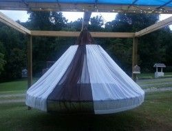 Swing Bed Made From Recycled Trampoline The Owner Builder Network Trampoline Swing Bed Swing Recycled Trampoline
