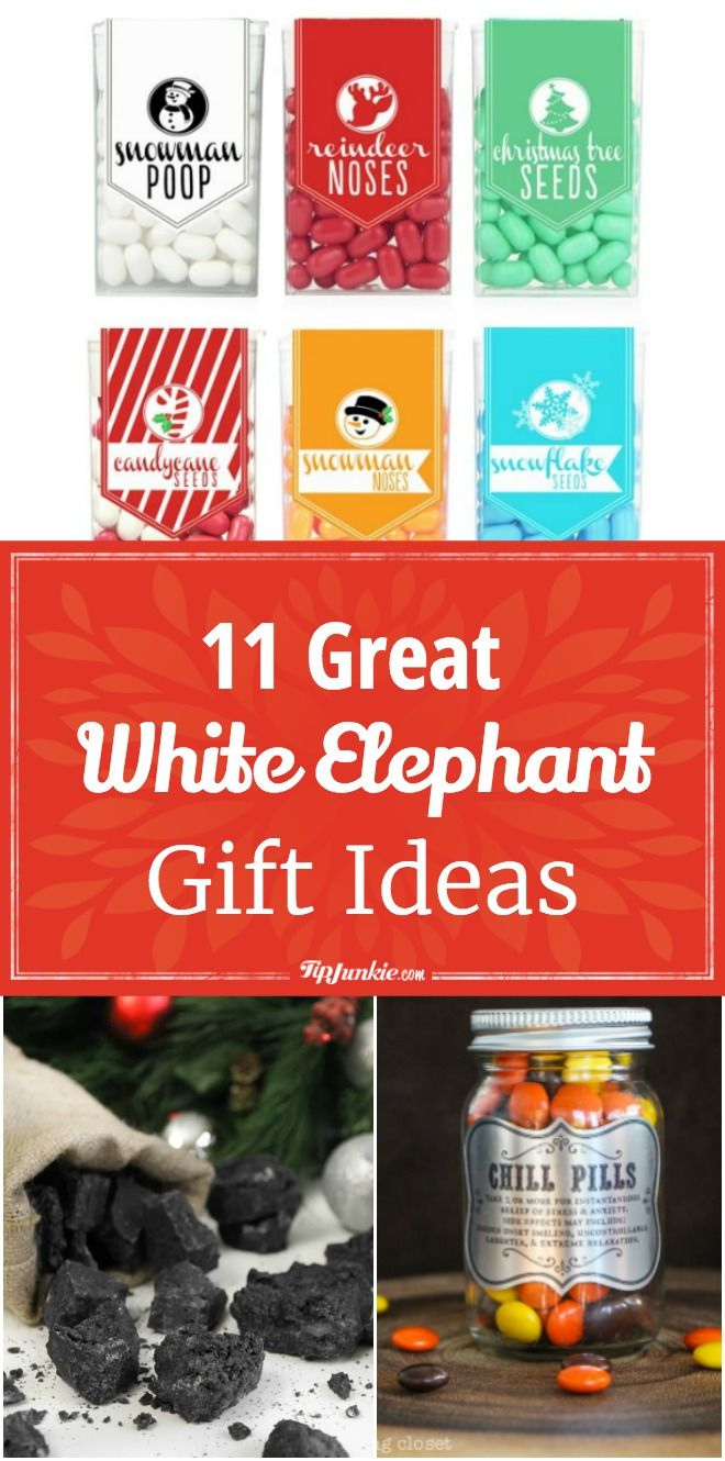11 Great White Elephant Gift Ideas White Elephant Gifts Diy Christmas Gifts For Friends Elephant Gifts