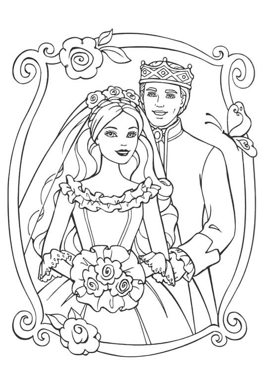 Barbie Wedding Coloring Pages Related With Barbie Wedding