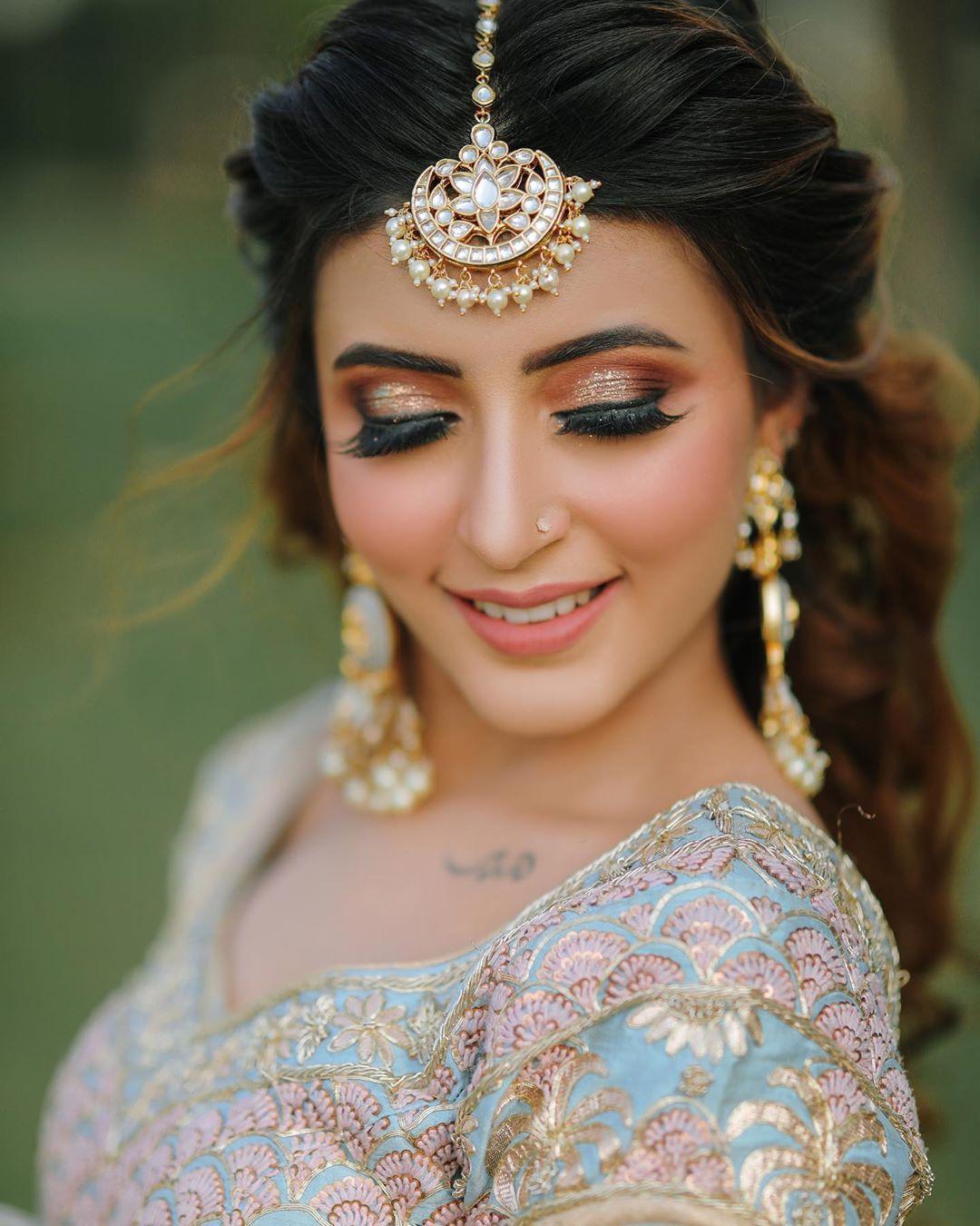 Wedding Hairstyles With Tikka