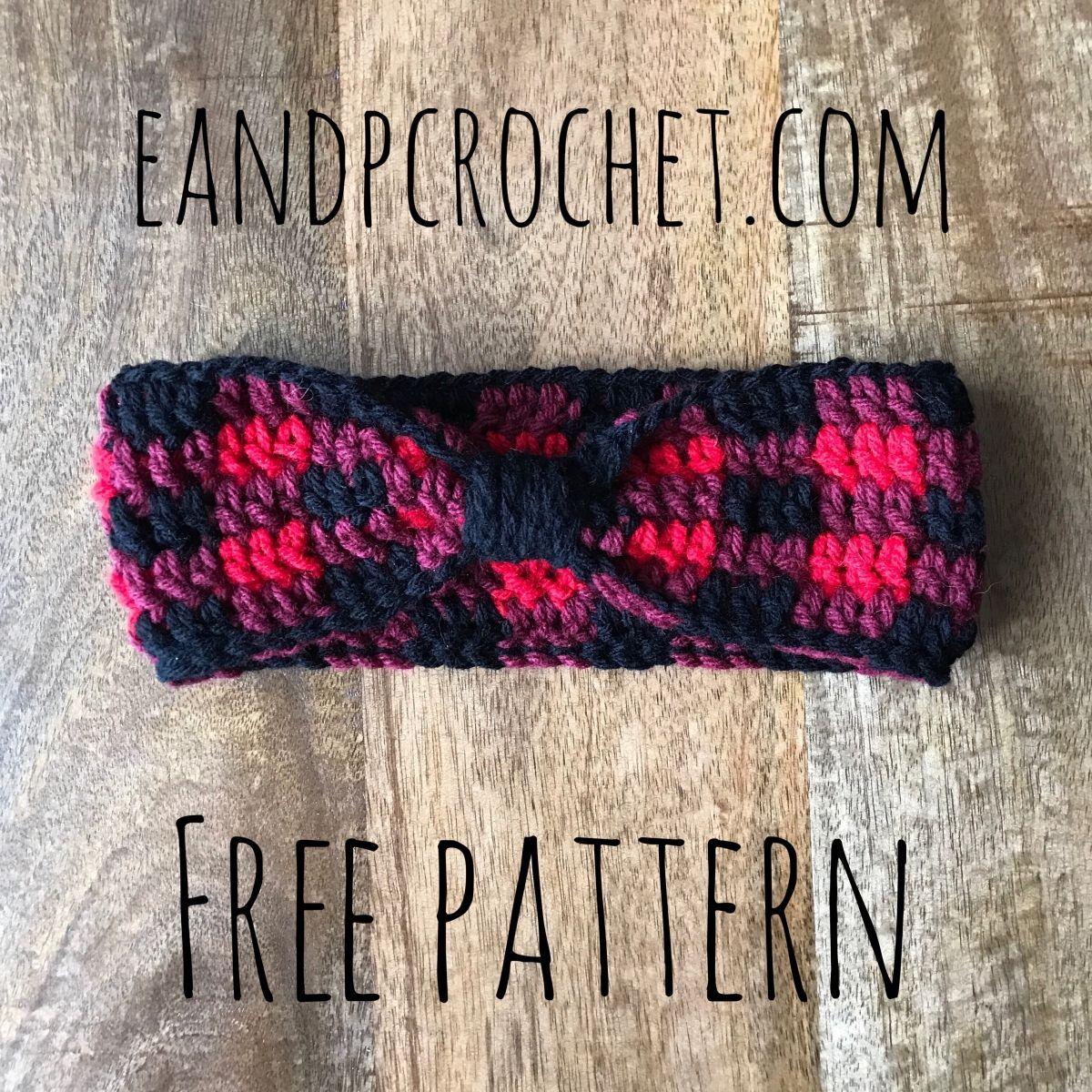 Pattern: Crochet Plaid Headband | Farbig, Häkelanleitung und Balkon