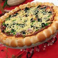 بيتزا مزخرفة منال العالم Recipes Veg Pizza Food