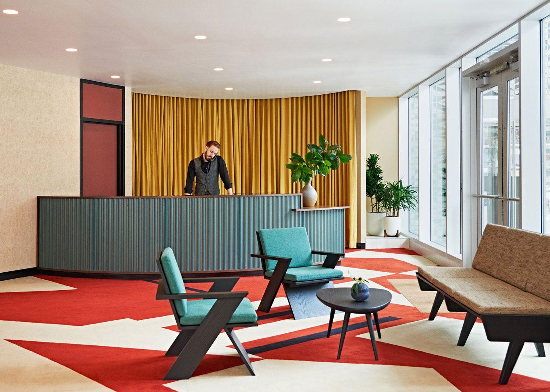 Commune Design Transforms a 39s Bank into The Durham.  Interior
