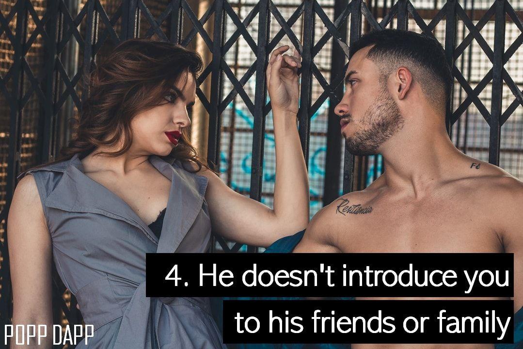 4. He doesn't introduce you to his friends or family | Stop chasing him,  Bollywood movies, Girl falling
