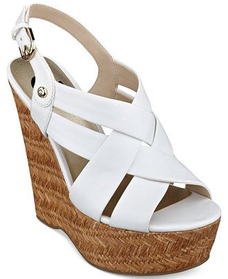 G by GUESS Women's Havana Platform Wedge Sandals - Shoes - Macy's