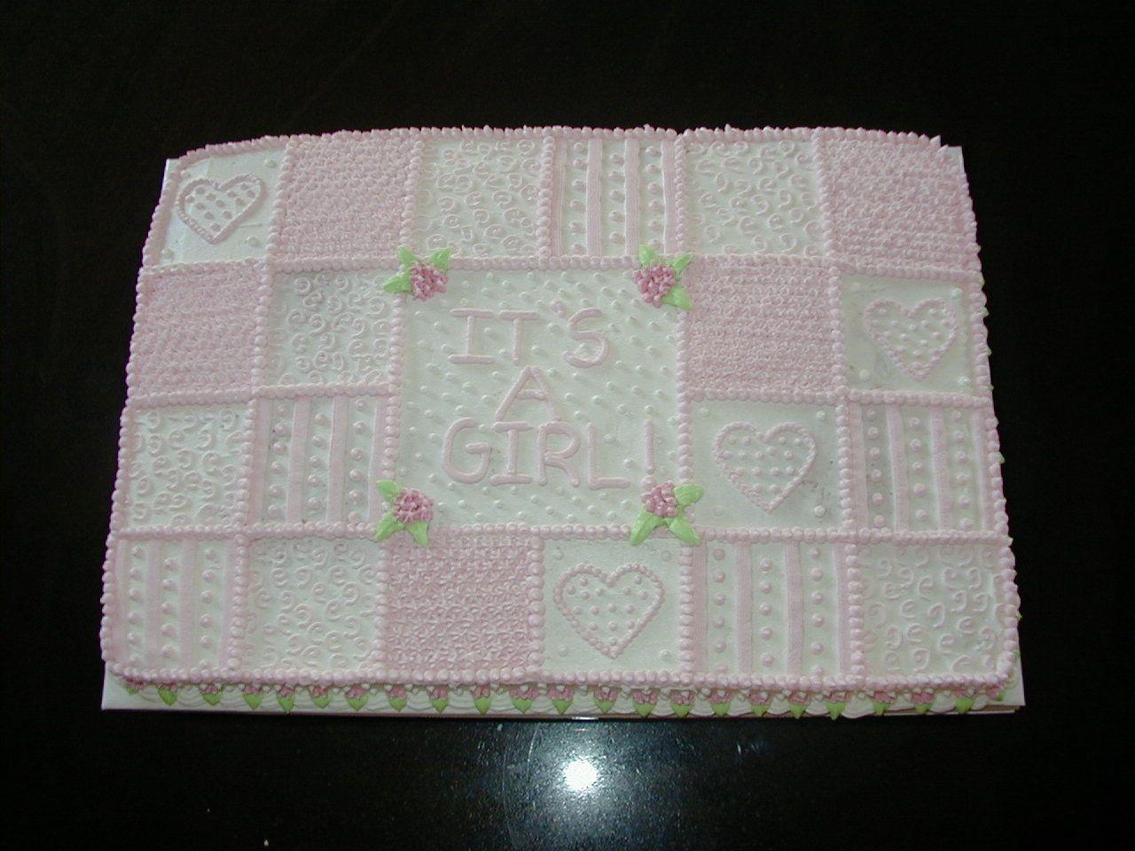 Easy Baby Girl Shower Cakes Baby Girl Quilt Baby Shower Baby Shower Pinterest Girl