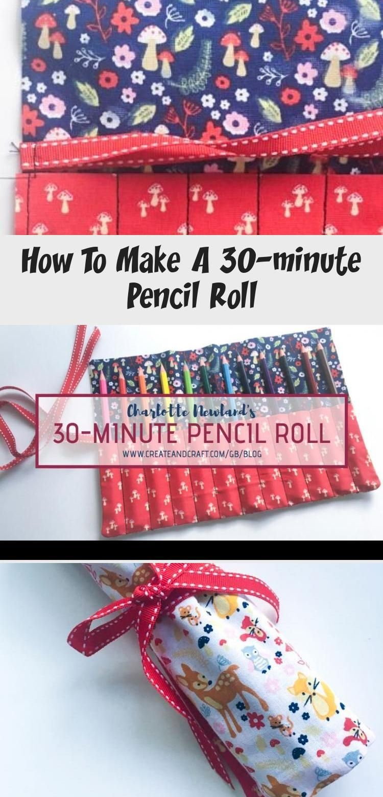 How to make a 30minute pencil roll embroidery this