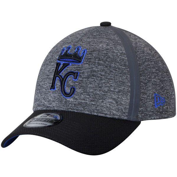 2147c548 Men's Kansas City Royals New Era Heathered Gray/Black Clubhouse 39THIRTY  Flex Hat, $29.99