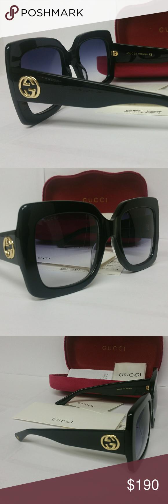 2076ec40bca Authentic Gucci Oversized GG0083S Sunglasses 100% authentic Gucci ...