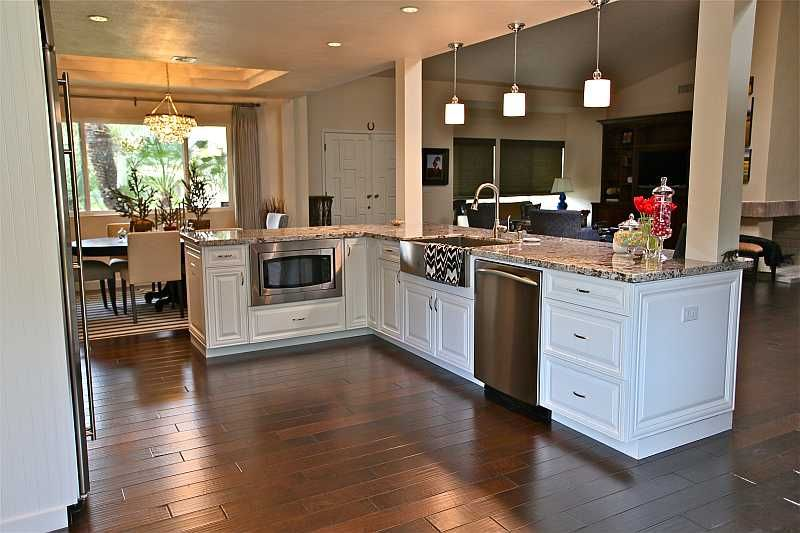 Stainless Kitchen With White Cabinets Kitchen Renovation Photo
