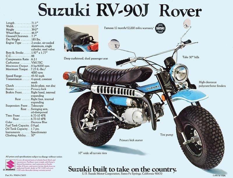 suzuki rv 90 j usa had this bike as a early teenager took it every rh pinterest com Service Repair Manuals Online GM Service Repair Manuals