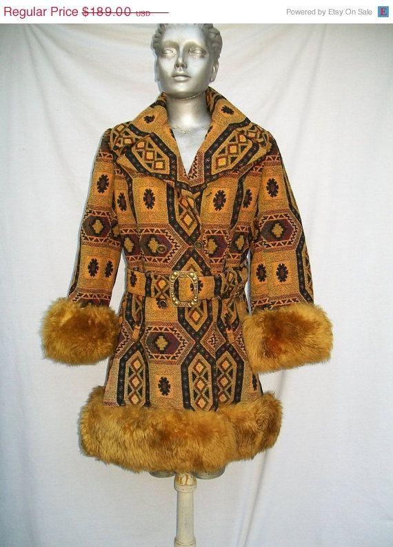 Reserved Fabulous Mod 60s Tapestry Carpet Coat Genuine Etsy Coat Vintage Coat Vintage Outfits