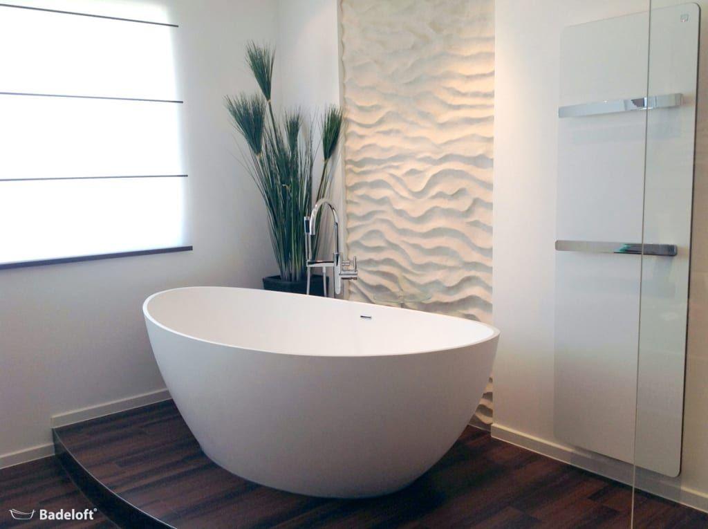 Moderne Badezimmer Bilder Freistehende Mineralguss Badewanne BW