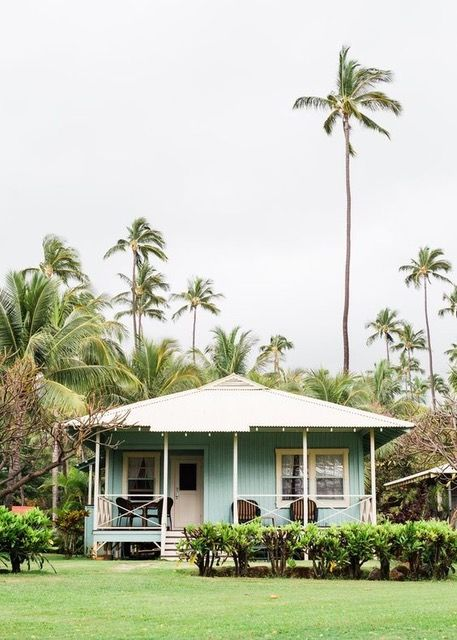 Palm Trees Landscape Front Porch Turquoise 1930 S High Cotton Time House Beach Cottage Bungalow River Hous Dream Beach Houses Hawaii Beach House Hawaiian Homes