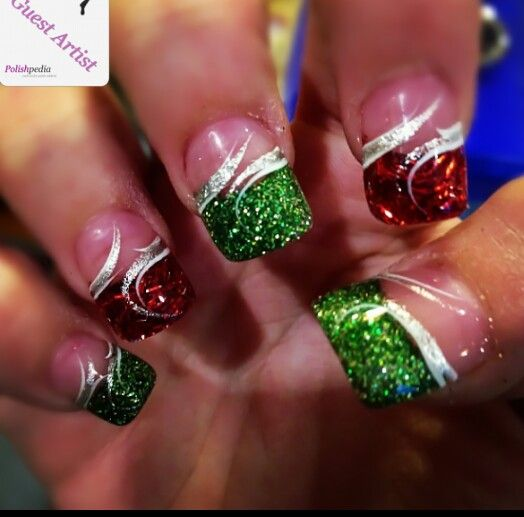 30 Festive Christmas Acrylic Nail Designs Pinterest Make Up