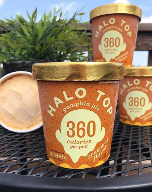 Halo Top Pumpkin Pie Ice Cream Halo Top Flavors Pumpkin Cream Pie Tops