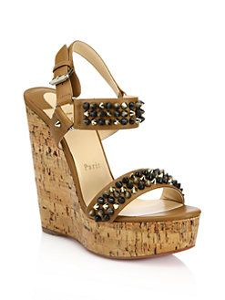 Christian Louboutin Studded Platform Wedges clearance deals sfB5H0FBk