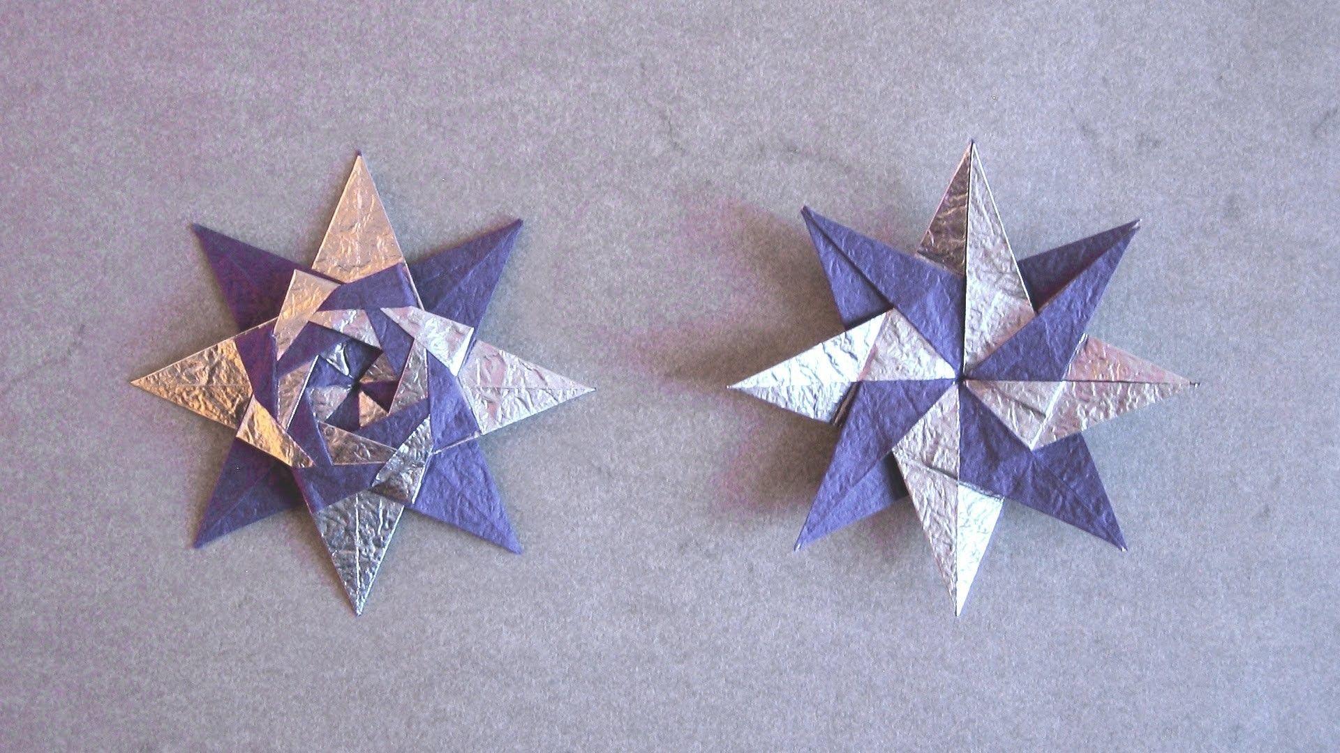 Christmas Origami Instructions Braided Star Maria Sinayskaya