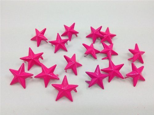 Nicedeco - DIY Accessories Star Studs 100pcs 15MM HOT PINK Metal Claw Beads Nailhead Punk Stud Rivet Spike CellPhone Decoration Leathercraft Nicedeco http://www.amazon.com/dp/B00GYXY6WA/ref=cm_sw_r_pi_dp_tjmKtb1JF4PT7XRS