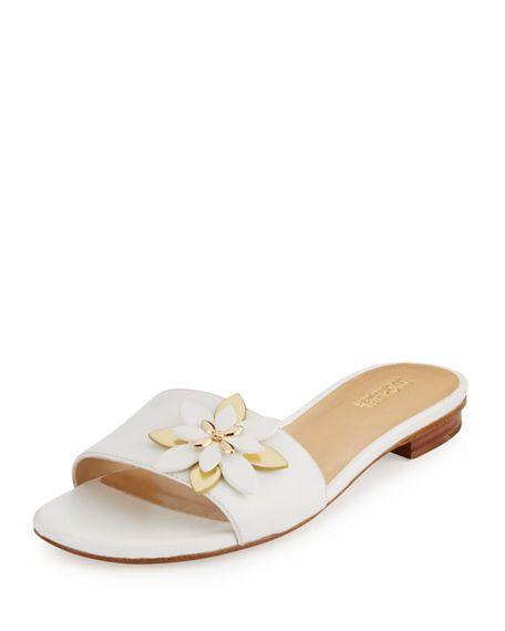 4185c152e4e MICHAEL MICHAEL KORS Heidi Floral Flat Slide Sandal.  michaelmichaelkors   shoes  flats
