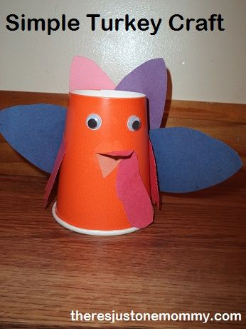 Paper Cup Turkey Turkey Craft And Cups