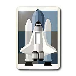 3dRose LLC lsp_39001_1 Toy Rocket On Blue and Gray Single Toggle Switch - Amazon.com
