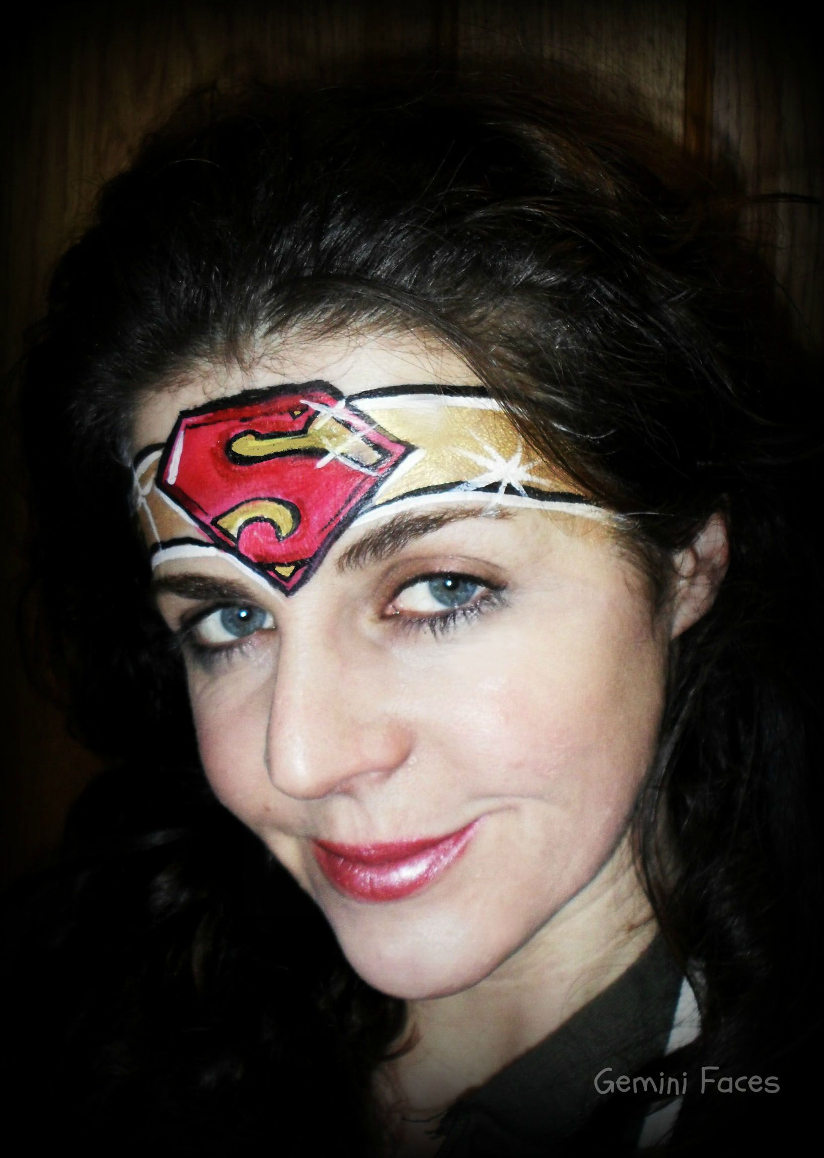 Supergirl Face Painting Superhero Face Painting Face Painting Easy Face Painting Tutorials