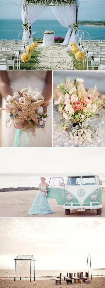 Photo of Precioso tema de boda en la playa educado