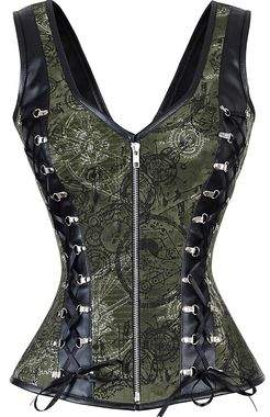 WANT.  The Violet Vixen Crossed Assassin Green Corset #thevioletvixen