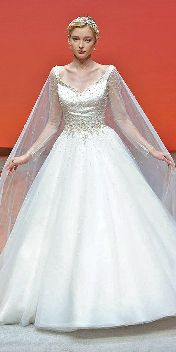 Disney Wedding Dresses For Fairy Tale Inspiration ❤ See more: http://www.weddingforward.com/disney-wedding-dresses/ #weddings