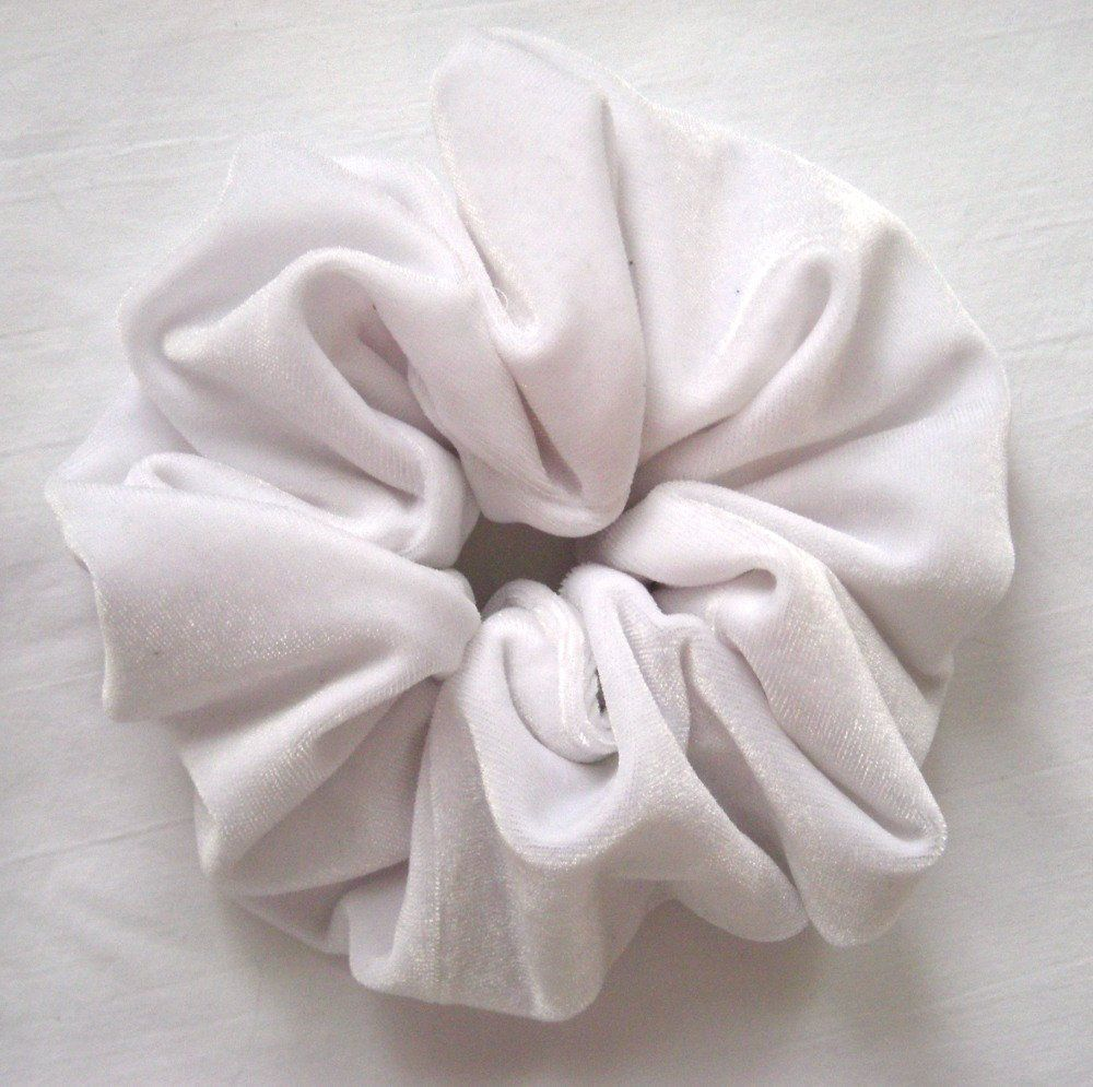White Velvet Hair Scrunchy-Large *** Check out the image by visiting the link.