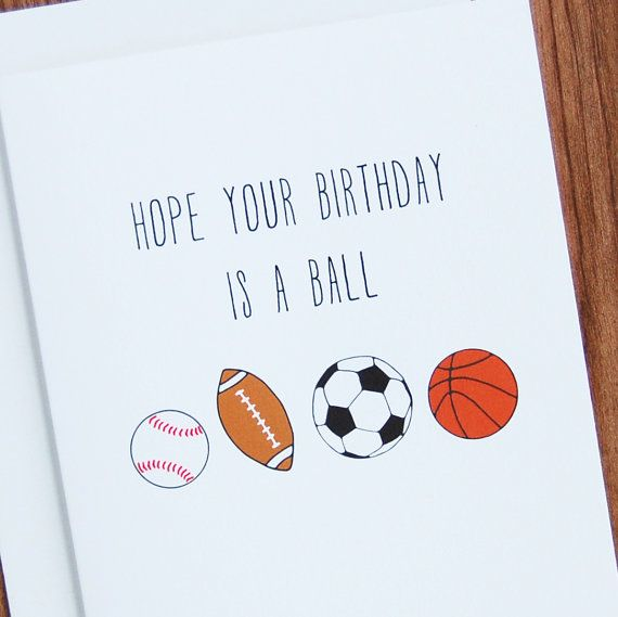 The Perfect Sports Birthday Card For The Sports Lover In Your Life This Card Features A Hand Illust Birthday Card Pictures Birthday Cards Happy Birthday Cards
