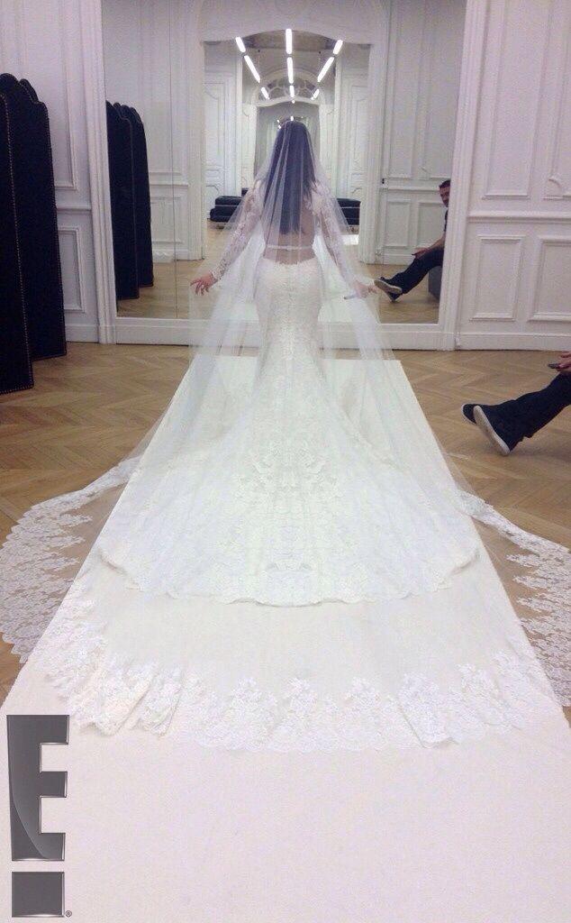 Long Vale Kim Kardashian Wedding Dress Givenchy Wedding Dress Kardashian Wedding