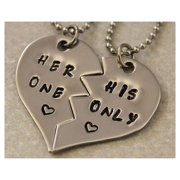 4d52271d48 Gift Ideas For Couples, Matching Couples Necklaces Dog Tags Sets ❤ liked on  Polyvore