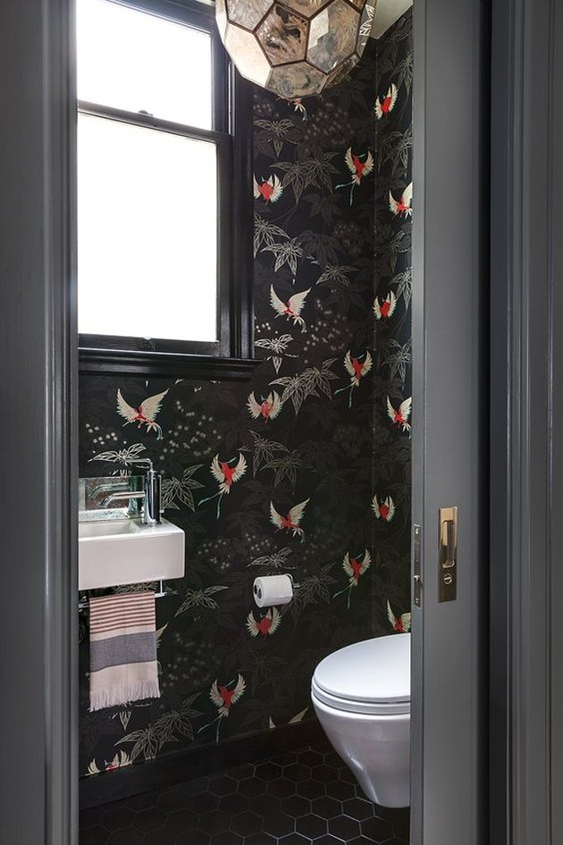 10 Ways To Use Black Trim Hunker Bathroom Wallpaper Bathroom Design Small Amazing Bathrooms