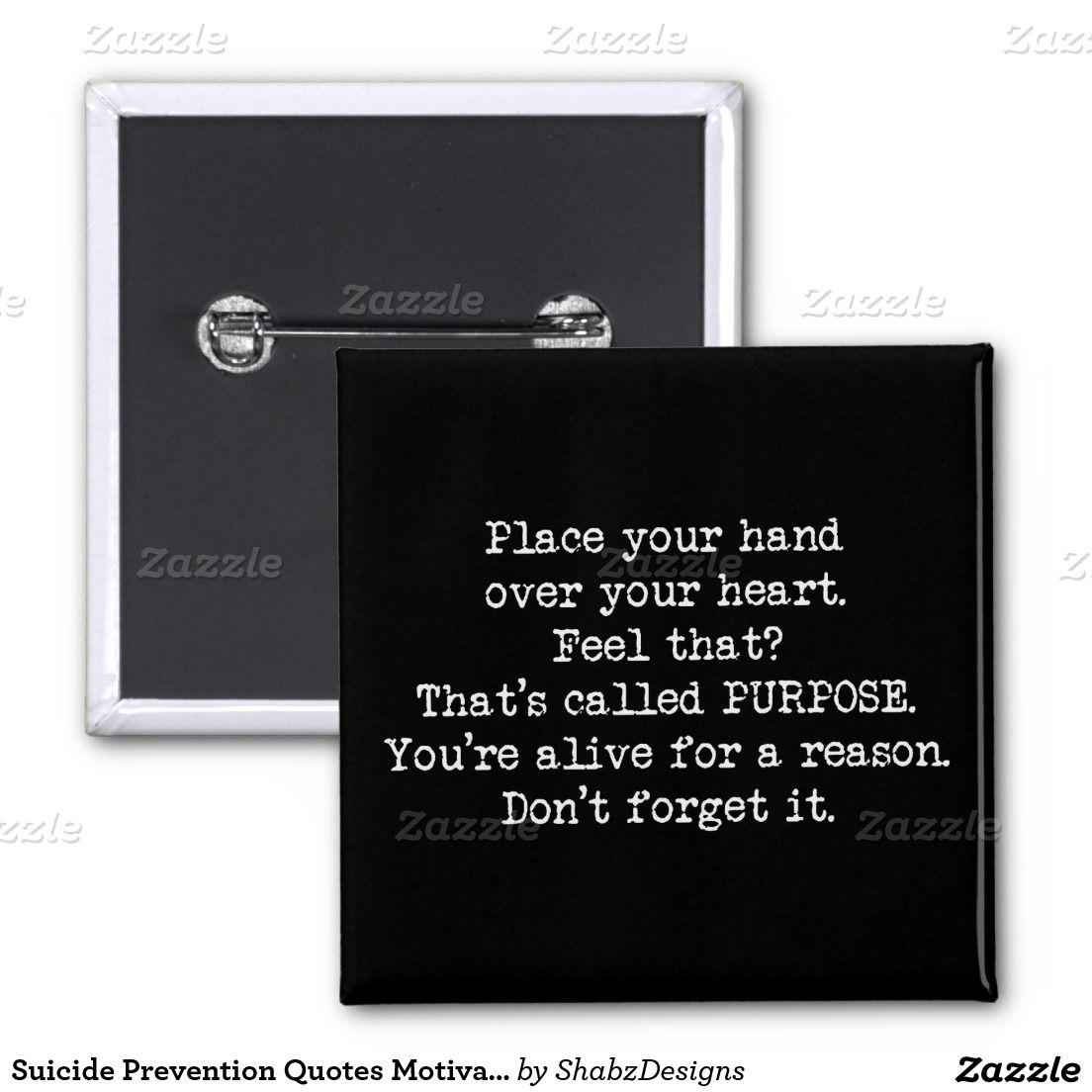 Suicide Prevention Quotes Suicide Prevention Quotes Motivational 15 Cm Square Badge