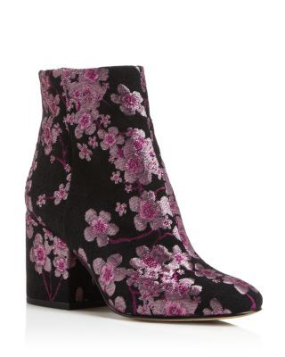 56ef126821d9e2 Sam Edelman Taye Embroidered Floral Block Heel Booties ...
