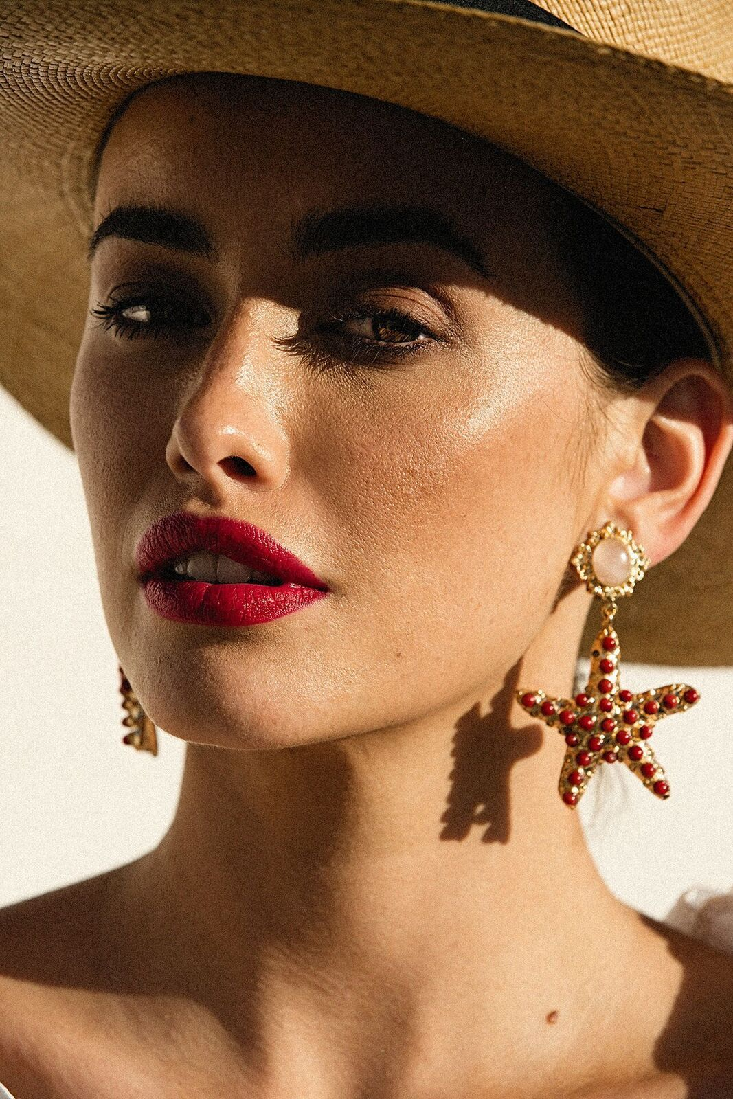 Sofia Earrings Red Christie Nicolaides Earrings, Ear