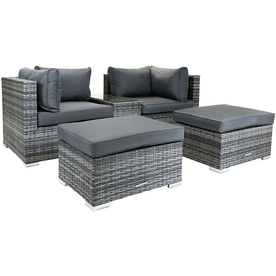 Charles Bentley Multifunctional Contemporary Lounge Set In Grey
