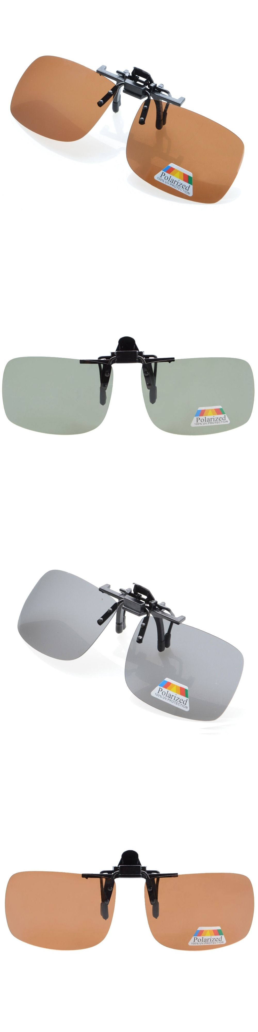 888bde354b F68 Eyekepper Rectangular Flip up Polarized Clip-on Sunglasses ...