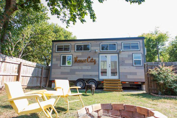 Music City Tiny House Visit Tiny Happy Homes Tiny House Exterior Tiny House Inspiration Tiny House